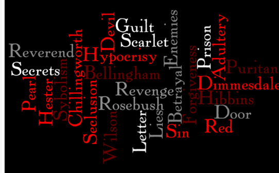 Blog Entry #4: Scarlet Letter Wordle - Sarah's Honors English Homepage